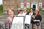 Helen O'Carroll Curator of Kerry county museum (on Left) celebrates with staff Alice O'Sullivan, Anne Spillane, Sandra Leahy and Claudia Koher on Tuesday after the museum awarded the museum of the year.