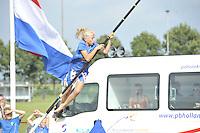 FIERLJEPPEN/POLSSTOKVERSPRINGEN: 03-09-2016, Linschoten, NK Jeugd, Lisse van der Knaap IJlst (meisjes 11-12 jaar), ©foto Martin de Jong