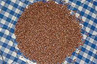 Leinsamen, Lein-Samen, Leinsaat, Lein-Saat, Samen vom Flachs, Gemeiner Lein, Linum usitatissimum, Linseed, Graines de lin