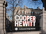 Cooper Hewitt, Smithsonian Design Museum, southwest signage. Photo by Matt Flynn © 2014 Cooper Hewitt, Smithsonian Design Museum