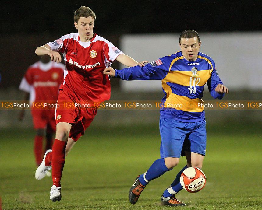 Toran Senghore in action for Romford - Romford vs Harlow Town - Ryman League Division One North at Mill Field, Aveley FC - 20/04/10 - MANDATORY CREDIT: Gavin Ellis/TGSPHOTO - Self billing applies where appropriate - Tel: 0845 094 6026