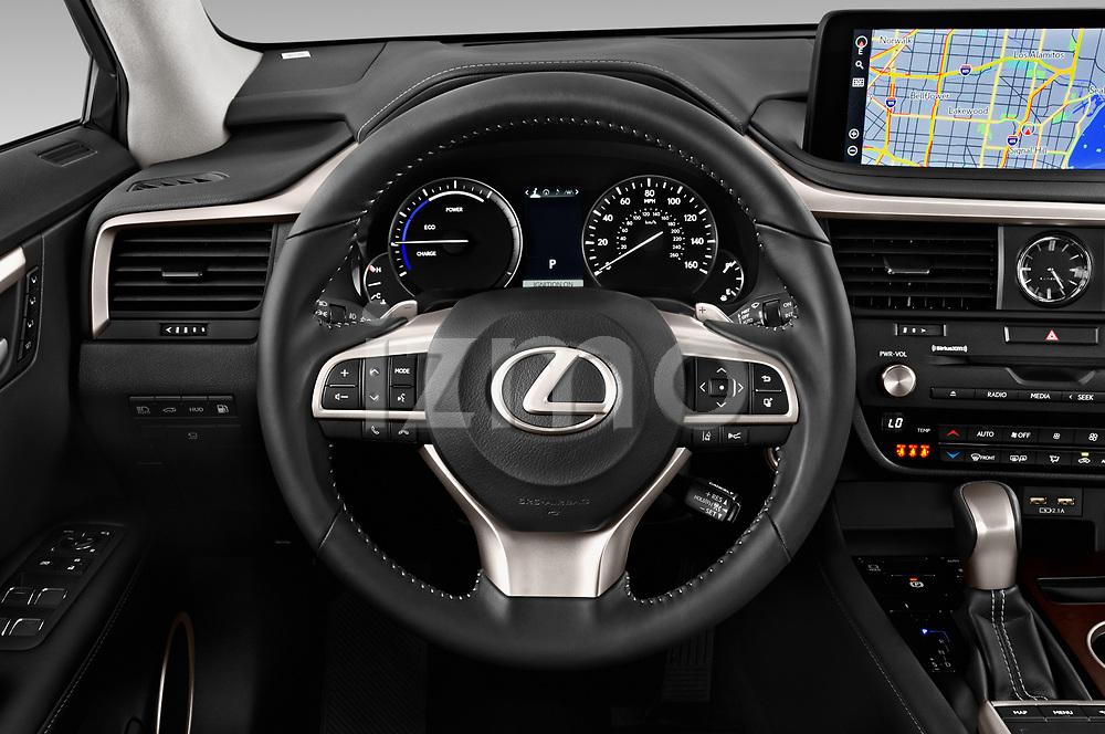 Car pictures of steering wheel view of a 2020 Lexus RX Hybrid 450h 5 Door SUV