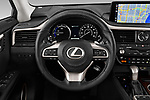 Car pictures of steering wheel view of a 2020 Lexus RX Hybrid 450h 5 Door SUV