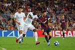 UEFA Champions League 2018/2019 - Matchday 1.<br /> FC Barcelona vs PSV Eindhoven: 4-0.<br /> Nicolas Isimat-Mirin vs Lionel Messi.