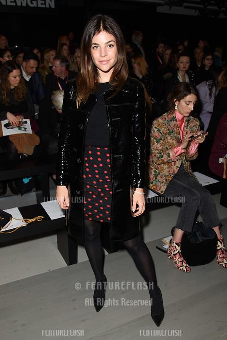 Julia Restoin Roitfeld at the Marta Jakubowski show during London Fashion Week AW18, at the Freemasons' Hall in London, UK. <br /> 16 February  2018<br /> Picture: Steve Vas/Featureflash/SilverHub 0208 004 5359 sales@silverhubmedia.com