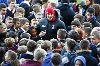 Picture by Alex Whitehead/SWpix.com - 12/11/2013 - Rugby League - Rugby League World Cup - New Zealand Training - John Charles Centre for Sport, Leeds, England - New Zealand's Sonny Bill Williams signs autographs and poses for photos with the hundreds of local school children in attendance. Rugby League World Cup 2013 re edited 11/10/2017 Best Of