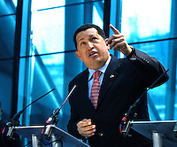 President Hugo Chavez.Press Conference for President Chavez of Venezuela and Mayor of London, organised by London Mayor, Ken Livingston.City Hall, London.15.6.06