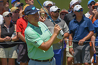 Ernie Els (RSA) watches his tee shot on 1 during round 1 of the AT&amp;T Byron Nelson, Trinity Forest Golf Club, at Dallas, Texas, USA. 5/17/2018.<br /> Picture: Golffile | Ken Murray<br /> <br /> <br /> All photo usage must carry mandatory copyright credit (&copy; Golffile | Ken Murray)