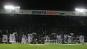 9th December 2017, St James Park, Newcastle upon Tyne, England; EPL Premier League football, Newcastle United versus Leicester City; The Gallowgate End celebrating the 125th Anniversary of Newcastle United