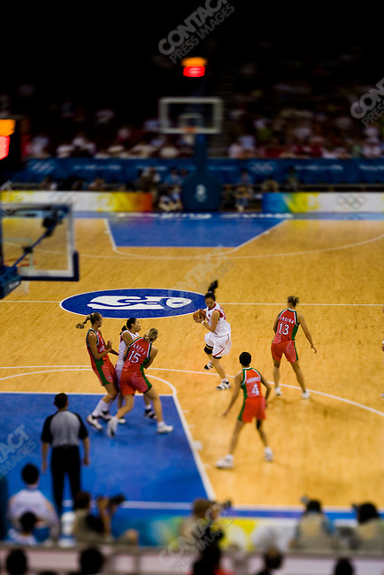 China vs. Belarus, women's basketball quarterfinal,.Olympic Basketball Gymnasium,.Beijing, China, August 19, 2008.