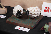 Sheep origami designed and folded by Beth Johnson, Michigan, USA.
