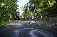 2013 Giro d'Italia.stage 10..Eros Capecchi (ITA) climbing at 20% gradient