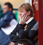 Stuart McCall watches his Motherwell side struggle