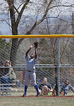 April 7, 2012:   San Jose State Spartans Markesha Collins makes the catch at the fence against the Nevada Wolf Pack during their NCAA softball game played at Christina M. Hixson Softball Park on Saturday in Reno, Nevada.