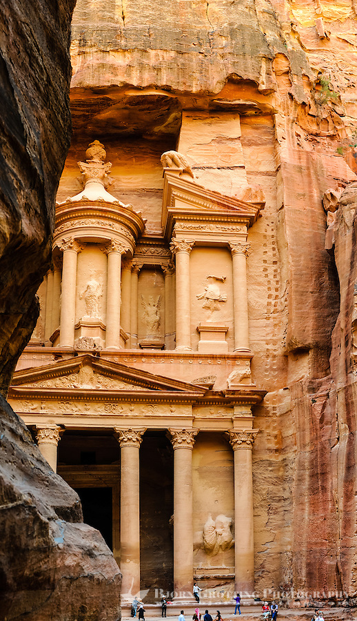 Petra is Jordan's most visited tourist attraction. Al Khazneh, The Treasury, is the most famous building.
