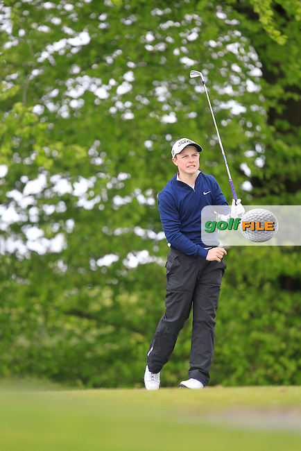 C. Purcell (Portmarnock) on the 5th Tee  during the Mullingar Scratch Trophy Day 1at Mullingar Golf Club Belvedere 18th May 2013.Picture: Thos Caffrey www.golffile.ie...