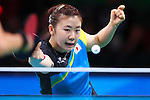 Ai Fukuhara (JPN), <br /> AUGUST 8, 2016 - Table Tennis : <br /> Women's Singles Preliminary Round 3 <br /> at Riocentro - Pavilion 3 <br /> during the Rio 2016 Olympic Games in Rio de Janeiro, Brazil. <br /> (Photo by Sho Tamura/AFLO SPORT)