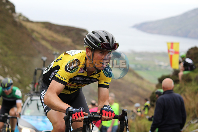 Ronan Costello Limerick Newcastle West / Rockwell<br /> Engineering on the first Cat 1 climb Mamore Gap during Stage 4 of the 2017 An Post Ras running 151.8km from Bundoran to Buncrana, Ireland. 24th May 2017.<br /> Picture: Andy Brady | Cyclefile<br /> <br /> <br /> All photos usage must carry mandatory copyright credit (&copy; Cyclefile | Andy Brady)