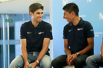 The leaders of Movistar Team, Mikel Landa and Nairo Quintana during the press conference before to the start of the Tour de France. June 18, 2018. (ALTERPHOTOS/Acero)