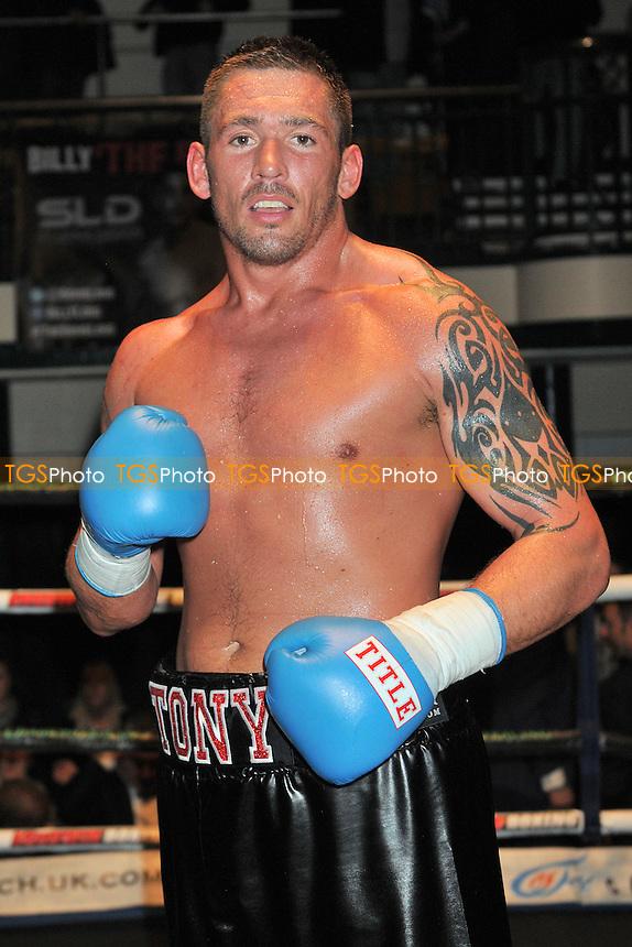 Tony Conquest (black shorts) defeats Tomislav Rudan - Boxing at the York Hall, Bethnal Green, London - 22/03/15 - MANDATORY CREDIT: Philip Sharkey/TGSPHOTO - Self billing applies where appropriate - contact@tgsphoto.co.uk - NO UNPAID USE