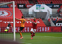 8th July 2020; Ashton Gate Stadium, Bristol, England; English Football League Championship Football, Bristol City versus Hull City; Nahki Wells of Bristol City celebrates his teams goal in 41st minute