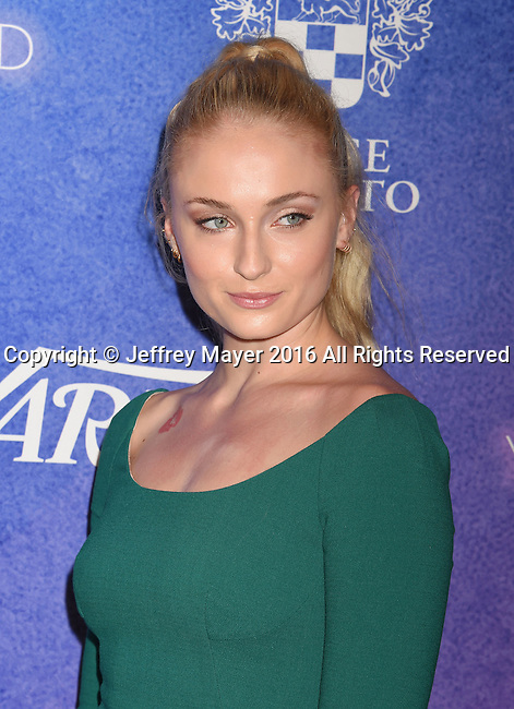 HOLLYWOOD, CA - AUGUST 16: Actress Sophie Turner arrives at Variety's Power Of Young Hollywood at NeueHouse Hollywood on August 16, 2016 in Los Angeles, California.