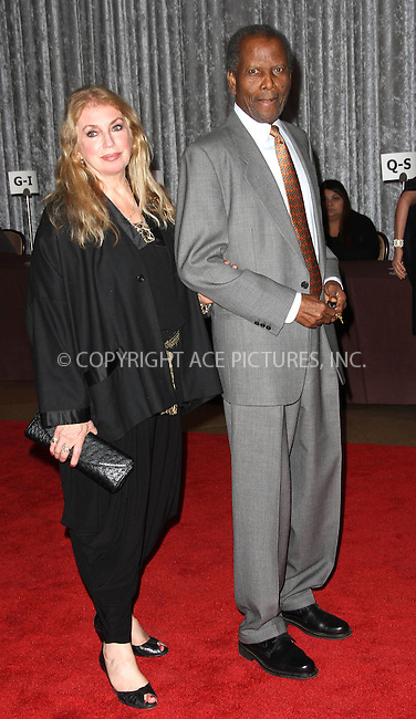 WWW.ACEPIXS.COM . . . . .  ..... . . . . US SALES ONLY . . . . .....November 1 2011, LA....Sidney Poitier and guest at the Fulfillment Fund Gala on November 1 2011 in Los Angeles....Please byline: FAMOUS-ACE PICTURES... . . . .  ....Ace Pictures, Inc:  ..Tel: (212) 243-8787..e-mail: info@acepixs.com..web: http://www.acepixs.com
