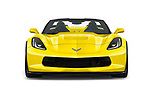 Car photography straight front view of a 2018 Chevrolet Corvette Grand-Sport-3LT 2 Door Convertible Front View