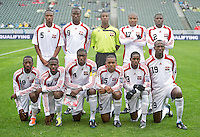 CARSON, CA - March 25, 2012: Trinidad & Tobago starting line up for the Panama vs Trinidad & Tobago match at the Home Depot Center in Carson, California. Final score Panama 1, Trinidad & Tobago 1.