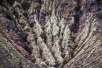 Rock patterns from previous eruptions at White Island Volcano, an active volcano in the Bay of Plenty, North Island, New Zealand