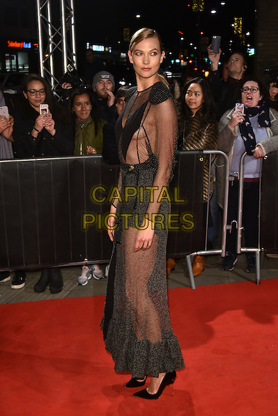 Karlie Kloss<br /> The Naked Heart Foundation Fabulous Fund Fair, at The Roundhouse, Camden, London, England on February 21,  2017.<br /> CAP/Phil Loftus<br /> &copy;Phil Loftus/Capital Pictures