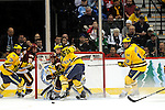 09 APR 2011: during the Division I Men's Ice Hockey Championship held at the Xcel Energy Center in St. Paul, MN.  Minnesota-Duluth beat Michigan in overtime, 3-2 to claim the national title. Vince Muzik/NCAA Photos
