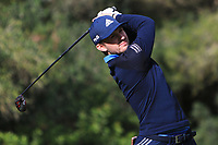 Connor Syme (SCO) on the 5th tee during Round 3 of the Challenge Tour Grand Final 2019 at Club de Golf Alcanada, Port d'Alcúdia, Mallorca, Spain on Saturday 9th November 2019.<br /> Picture:  Thos Caffrey / Golffile<br /> <br /> All photo usage must carry mandatory copyright credit (© Golffile | Thos Caffrey)