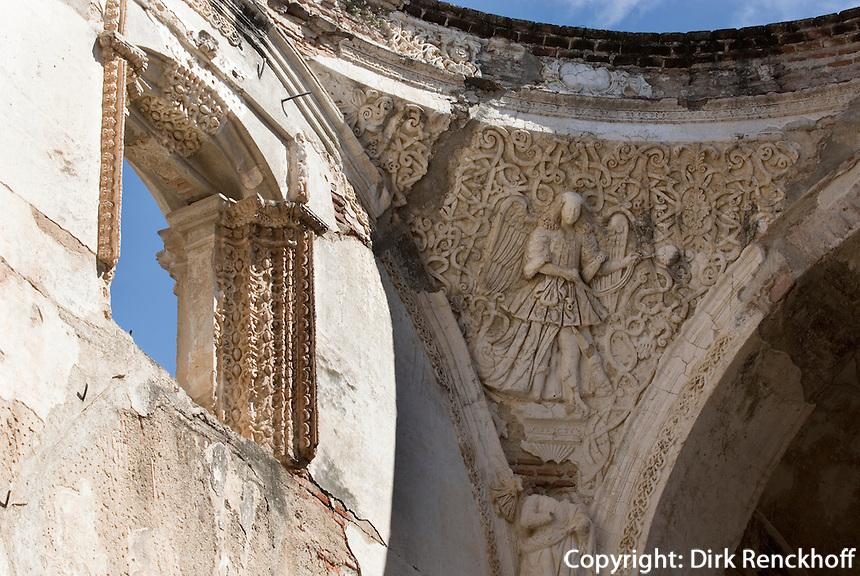 die durch Erdbeben zerstörte  Kathedrale (Catedra lMetropolitana) in Antigua, Guatemala, Unesco-Weltkulturerbe