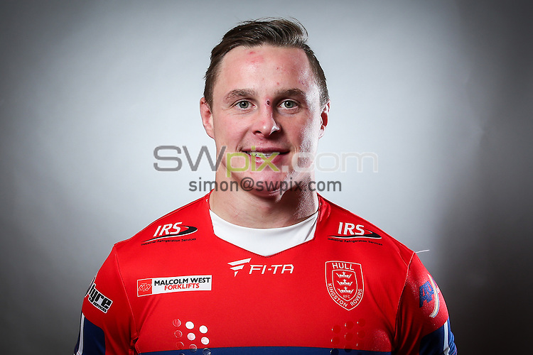 Picture by Alex Whitehead/SWpix.com - 15/01/2015 - Rugby League - First Utility Super League - Hull KR Media Day - KC Lightstream Stadium, Hull, England - James Donaldson