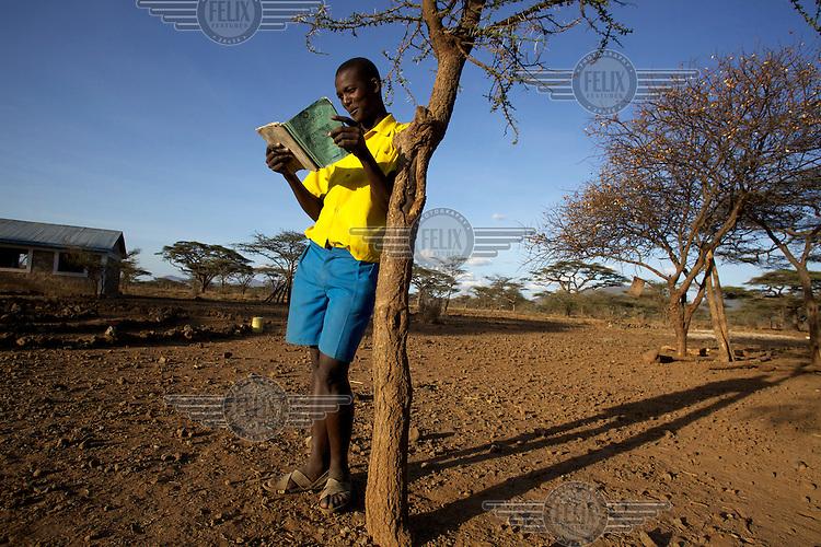 Portrait of John Mpayan, a student of Ngaramara school in Isiolo, East Kenya.