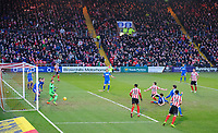 Lincoln City's Lee Frecklington scores his sides equalising goal to make the score 1-1<br /> <br /> Photographer Chris Vaughan/CameraSport<br /> <br /> The EFL Sky Bet League Two - Lincoln City v Notts County - Saturday 13th January 2018 - Sincil Bank - Lincoln<br /> <br /> World Copyright &copy; 2018 CameraSport. All rights reserved. 43 Linden Ave. Countesthorpe. Leicester. England. LE8 5PG - Tel: +44 (0) 116 277 4147 - admin@camerasport.com - www.camerasport.com
