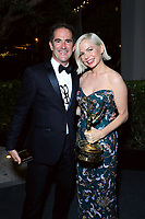 """ABC, DISNEY TV STUDIOS, FX, HULU, & NATIONAL GEOGRAPHIC 2019 EMMY AWARDS NOMINEE PARTY: Michelle Williams and guest attend the """"ABC, Disney TV Studios, FX, Hulu & National Geographic 2019 Emmy Awards Nominee Party"""" at Otium on September 22, 2019 in Los Angeles, California. (Photo by PictureGroup/Walt Disney Television)"""