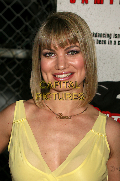 "RENA RIFFEL.""Kickin' It Old Skool"" Los Angeles Premiere Party at the Music Box Theatre, Hollywood, California, USA..April 25th, 2007.headshot portrait name necklace yellow.CAP/ADM/BP.©Byron Purvis/AdMedia/Capital Pictures"