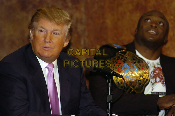 """DONALD TRUMP & BOBBY LASHLEY.News conference for """"Wrestlemania 23"""" at Trump Tower, New York, New York, USA..March 28th, 2007.headshot portrait.CAP/ADM/BL.©Bill Lyons/AdMedia/Capital Pictures *** Local Caption ***"""