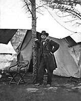 Gen. Ulysses S. Grant at Cold Harbor, Va. 1864.   Mathew Brady Collection. (Army)<br /> Exact Date Shot Unknown<br /> NARA FILE #:  111-B-36<br /> WAR &amp; CONFLICT BOOK #:  122