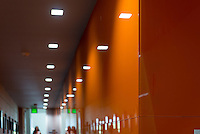 Interior hallways of Johnson Hall, Sept. 2013. (Photo by Marc Campos, Occidental College Photographer)