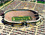 Aerial photograph of the Green Bay Packers Stadium, WI