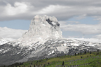 Chief Mountain a wild and sacred place. It sits just inside Glacier National Park. All the beautiful landscape leading up to it is on the Blackfeet Reservation allowing the Blackfeet people, and any who wish, to pay homage in it's shadow.