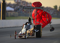 May 18, 2012; Topeka, KS, USA: NHRA top alcohol dragster driver Forrest Fair during qualifying for the Summer Nationals at Heartland Park Topeka. Mandatory Credit: Mark J. Rebilas-