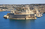 Fort Saint Angelo, Grand Harbour, Vittoriosa, Valletta, Malta