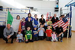members pictured with Boxer Deirdre Gogarty at her book signing at Drogheda Boxing club. Photo: Colin Bell/pressphotos.ie