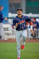 Bryan Torres (1) of the Rocky Mountain Vibes before the game against the Ogden Raptors at Lindquist Field on July 4, 2019 in Ogden, Utah. The Raptors defeated the Vibes 4-2. (Stephen Smith/Four Seam Images)