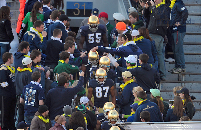 Nov. 17, 2012; Players enter through the student section for warmups.