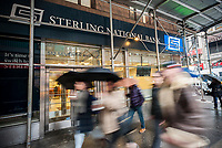 A Manhattan branch of Sterling Bancorp's Sterling National Bank in New York on Tuesday, March 7, 2017.  Sterling Bancorp announced that it will buy Astoria Financial Corp. in a deal worth $2.2 billion. (© Richard B. Levine)